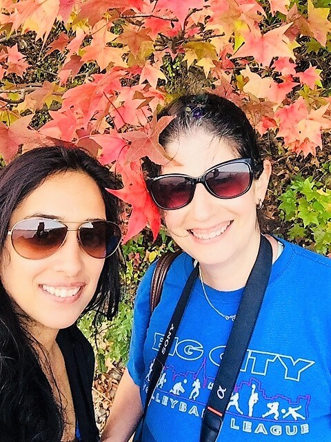 "Anisa with her good friend Artee - ""Palisades Interstate Park: Perfect For a Fall Hike"" - Two Traveling Texans"