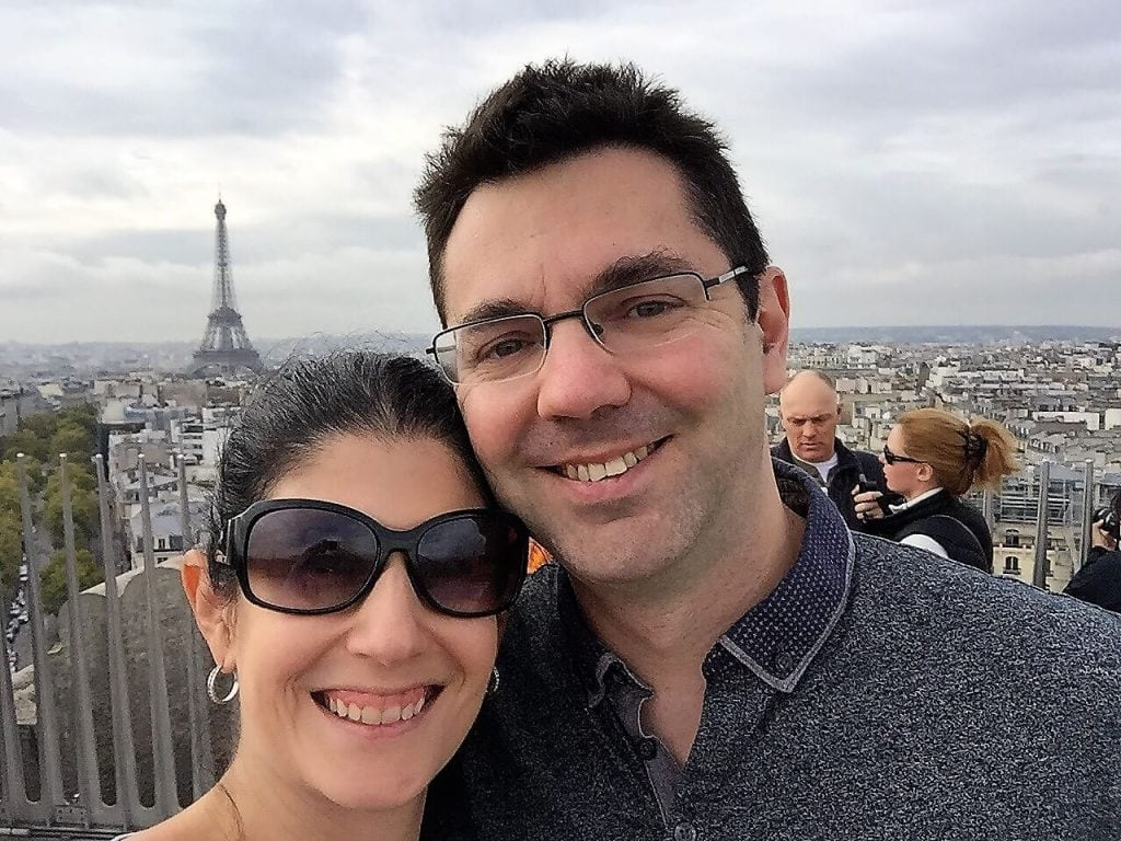 "Selfie on top of the Arc De Triomphe in Paris - ""Moving To England: How and Why I Did It!"" - Two Traveling Texans"