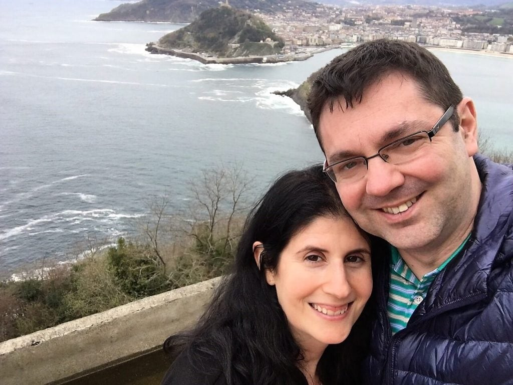 "Anisa and Russell in San Sebastian - ""Moving To England: How and Why I Did It!"" - Two Traveling Texans"