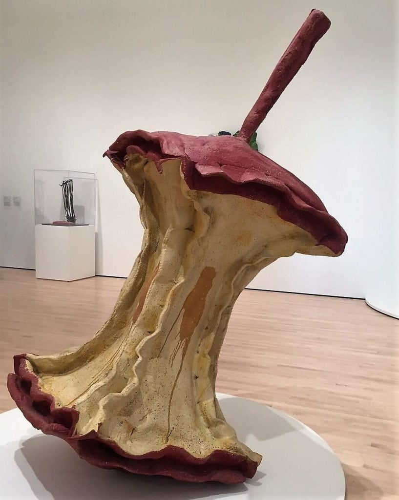 """Geometric Apple Core"" by Claes Oldenburg and Coosje van Bruggen - ""SFMOMA: Modern Art in a New Setting"" - Two Traveling Texans"