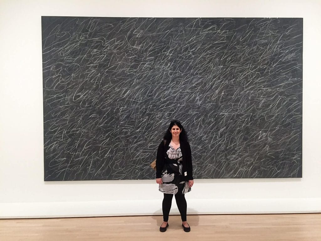 "Anisa with Cy Twombly's Untitled - ""SFMOMA: Modern Art in a New Setting"" - Two Traveling Texans"