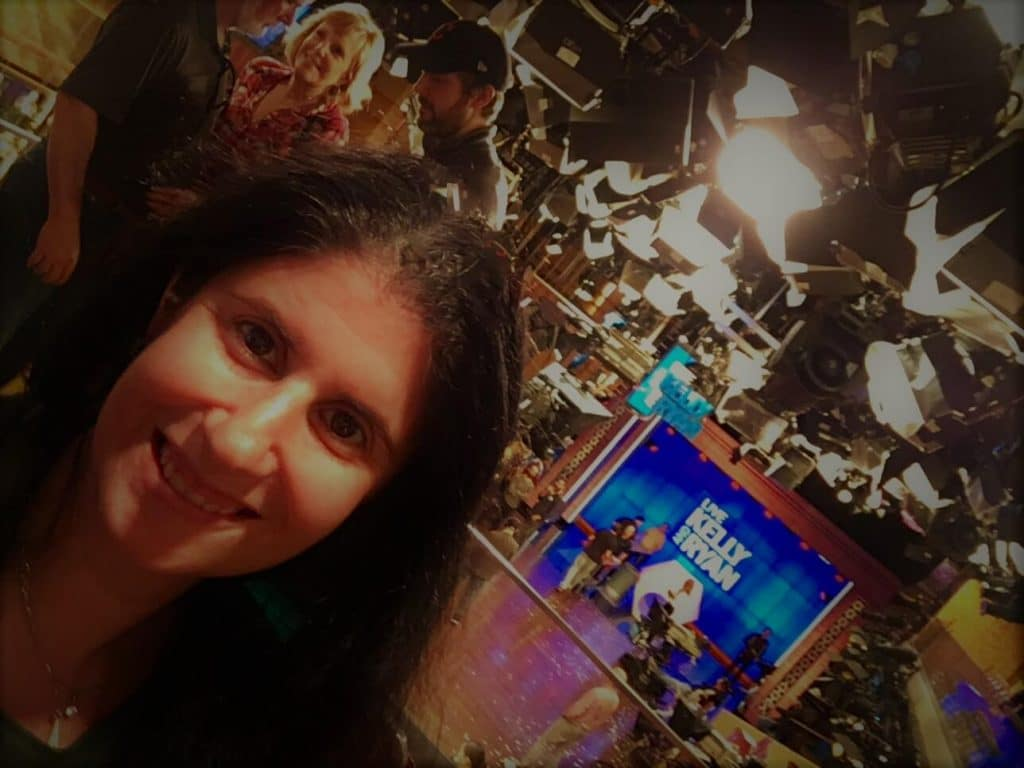 "Obligatory selfie with the Live set. - ""How to See TV Tapings in NYC With 1iota Tickets"" - Two Traveling Texans"