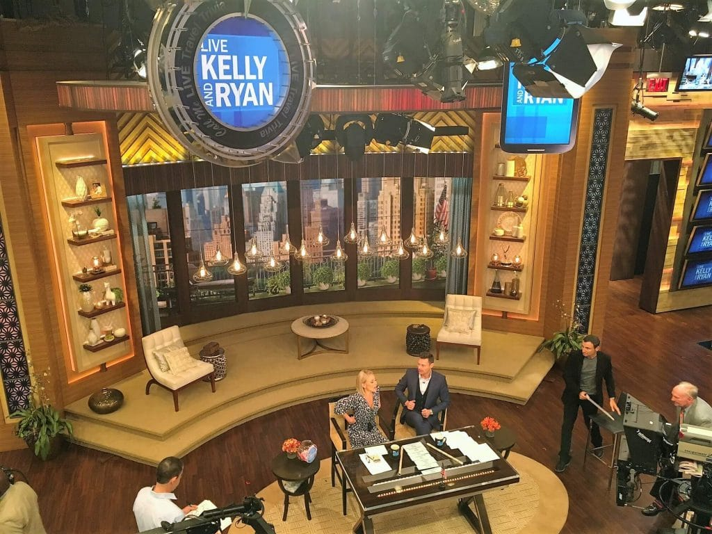 "The host chat at the beginning of the show. You can see Gelman off in the right side of the picture. - - ""How to See TV Tapings in NYC With 1iota Tickets"" - Two Traveling Texans"