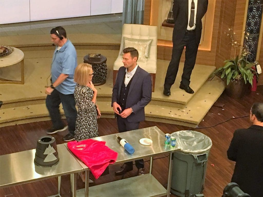"""Kelly and Ryan getting ready for the next shot. - """"How to See TV Tapings in NYC With 1iota Tickets"""" - Two Traveling Texans"""