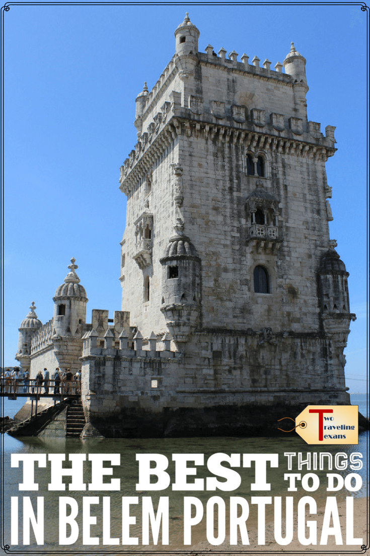 You really must make some time to visit Belem when you are in Lisbon.  Find out the best things to do in Belem Portugal including tips for visiting Belem Tower and Jeronimos Monastery. #belemportugal #whattodoinbelem #whattoseeinbelem #belemtips #belemlisbon #visitbelem #lisboacard #belemtower #towerofbelem #jeronimosmonastery #dayinbelem #belemcustardtarts