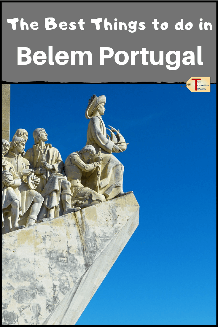 discoveries monument in belem with text overlay