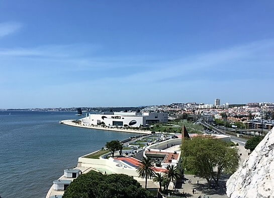 "The view from the top of Belem Tower looking west.- ""The Best Things to Do in Belem (Lisbon)"" - Two Traveling Texans"