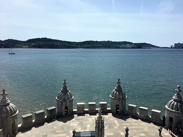 "View of the Tagus river from the top of Belem Tower. - ""The Best Things to Do in Belem (Lisbon)"" - Two Traveling Texans"