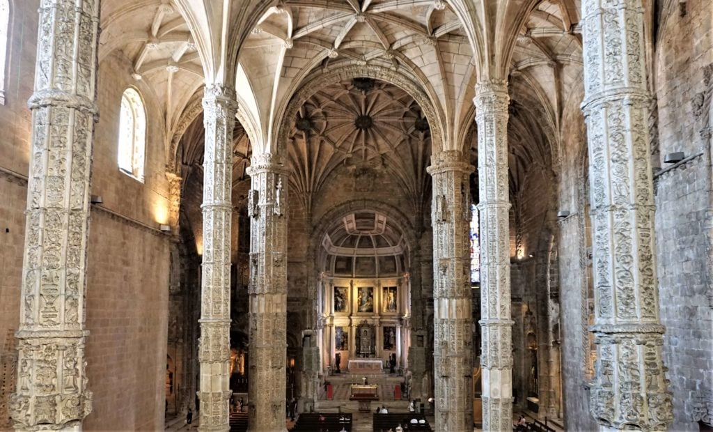"The view from the upper choir area looking into the church. - ""The Best Things to Do in Belem (Lisbon)"" - Two Traveling Texans"