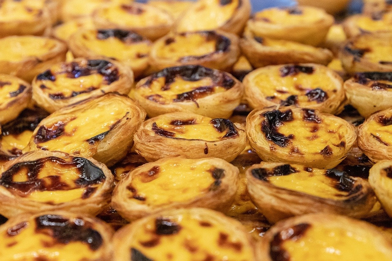 lots of belem's famous pastries called natas