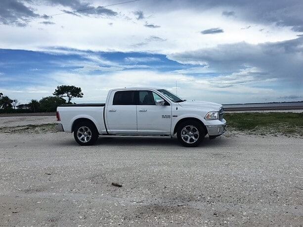 "Our rental car, not exactly the compact car we reserved, but we aren't complaining! - ""The Search for Sanibel Island Shells"" - Two Traveling Texans"