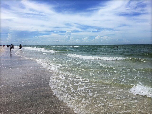 "Tarpon Bay Beach on Sanibel Island - sanibel island public beaches - - ""The Search for Sanibel Island Shells"" - Two Traveling Texans"