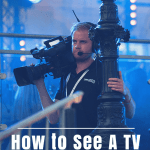"""camera man with text overlay """"how to see a tv taping in NYC"""""""