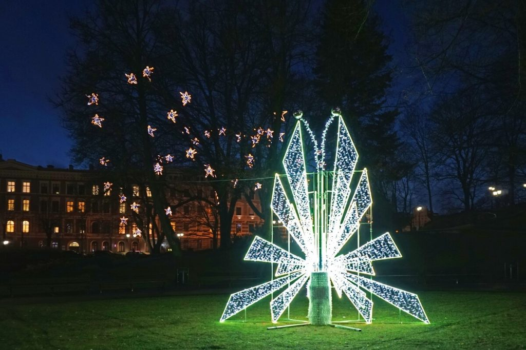 "The Christmas Butterfly was mesmerizing with its changing lights. - ""Riga Christmas Market Fun"" - Two Traveling Texans"