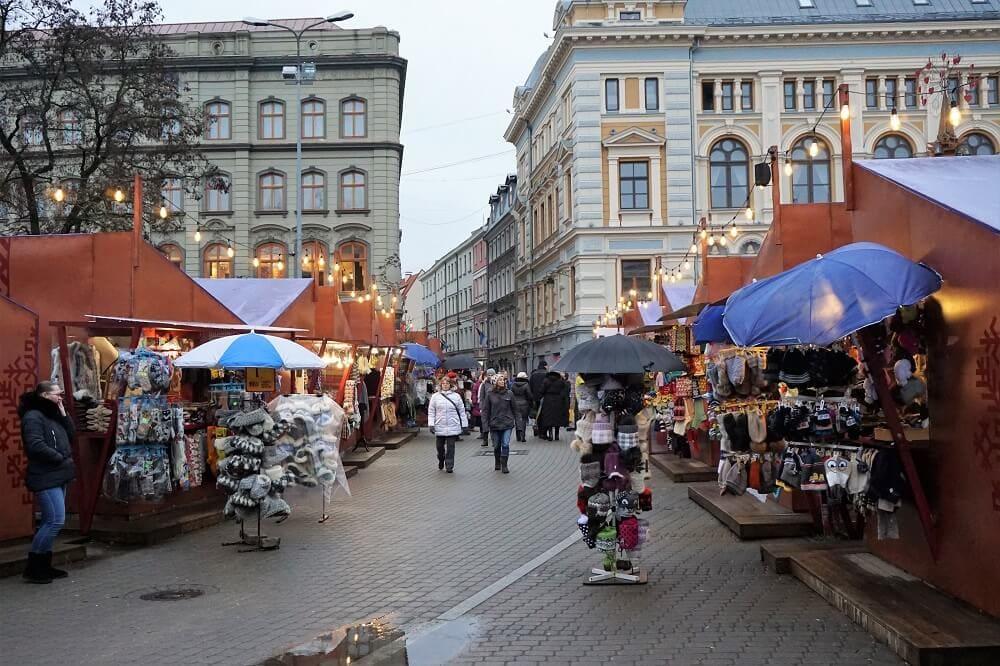 "The Livu Laukums Christmas Market. - ""Riga Christmas Market Fun"" - Two Traveling Texans"