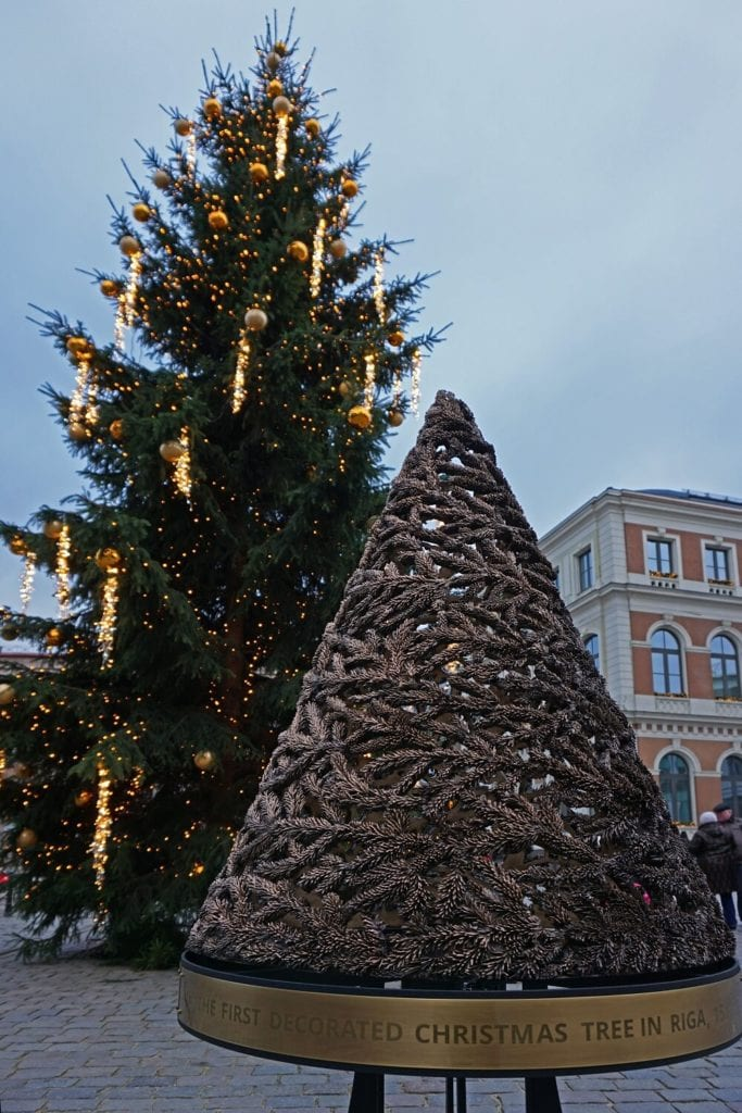 """Fir and Gold"" - Part of ""The Way Through the Christmas Trees"" - ""Riga Christmas Market Fun"" - Two Traveling Texans"