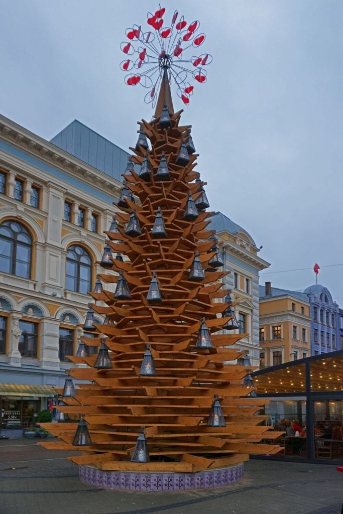 "The Fir Tree of Love - Part of ""The Way Through the Christmas Trees"" - ""Riga Christmas Market Fun"" - Two Traveling Texans"