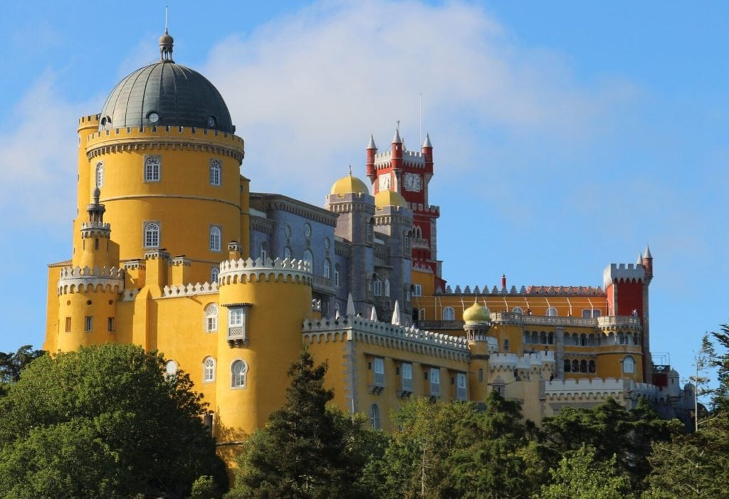 "Pena Palace is one of the highlights in Sintra- ""Our Amazing Portugal Road Trip Itinerary"" - Two Traveling Texans"