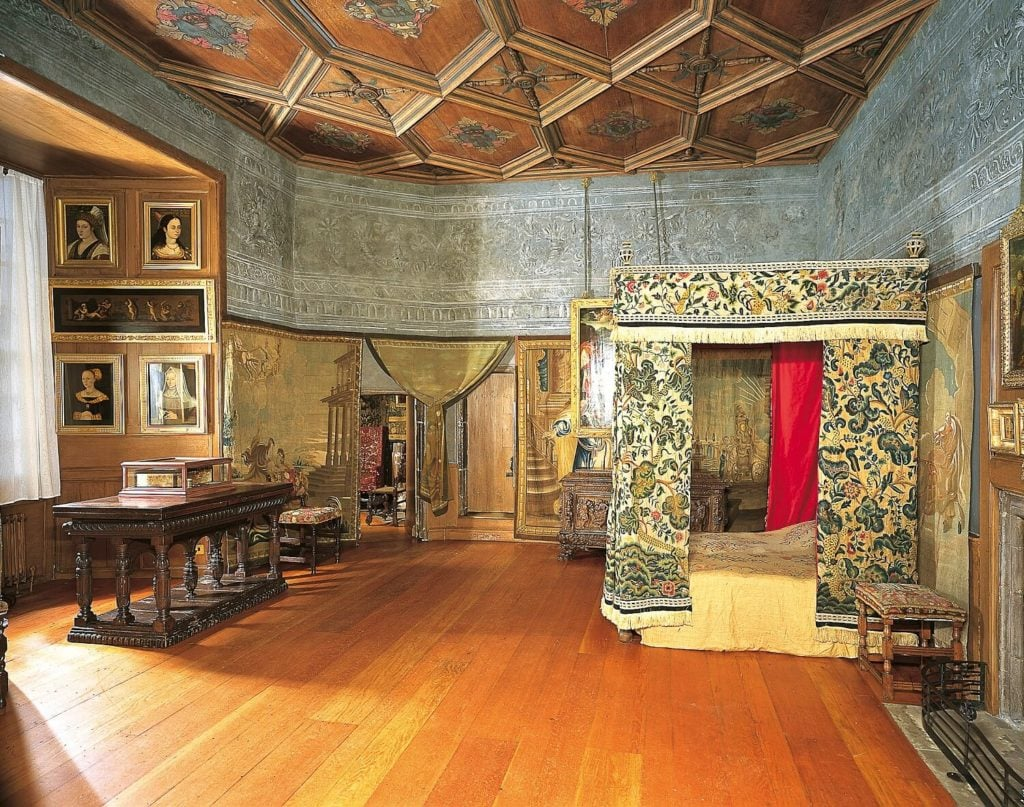 Mary Queen of Scots' Bedchamber - a beautiful room filled with history.- Image Credit: Royal Collection Trust / © Her Majesty Queen Elizabeth II 2018 - Inside Holyrood Palace - Two Traveling Texans