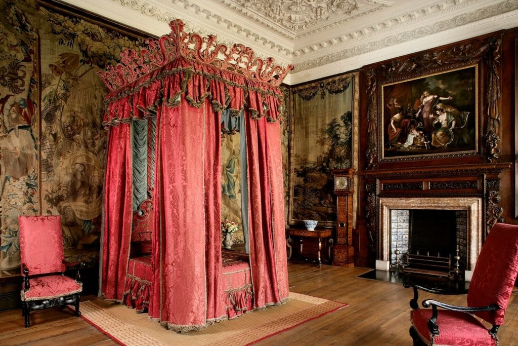 The bed is the King's Bedchamber is gorgeous and not meant for sleeping. - Image Credit: Royal Collection Trust / © Her Majesty Queen Elizabeth II 2018 - Inside Holyrood Palace - Two Traveling Texans