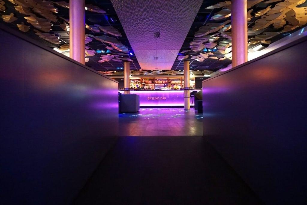 The Skyline Bar has a very trendy atmosphere.