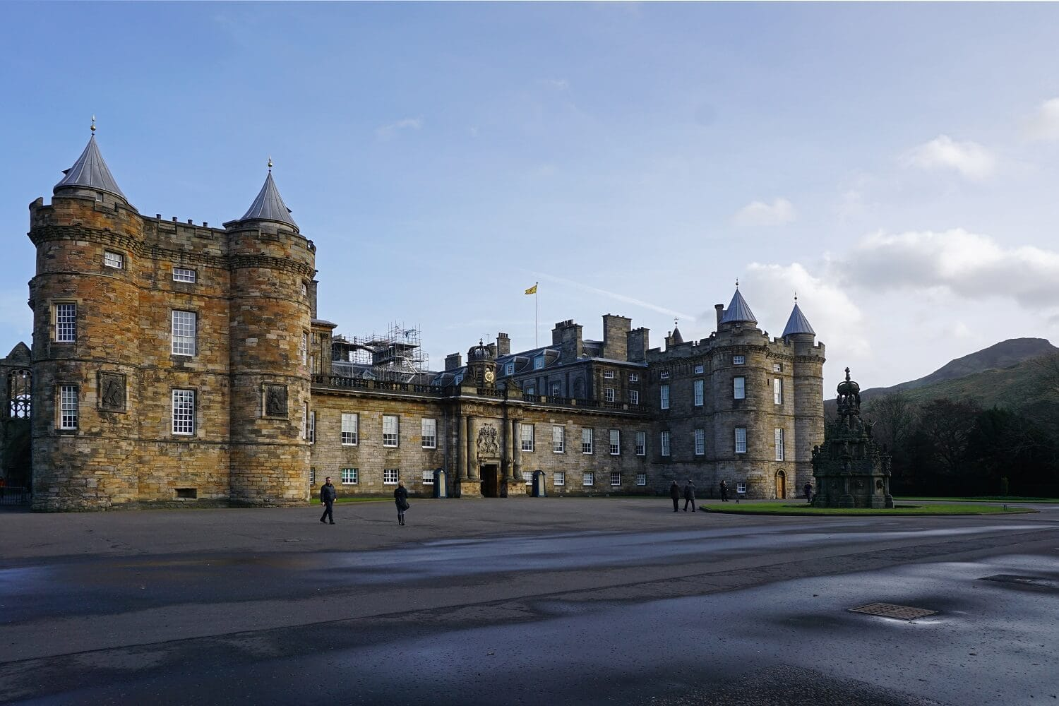 Another perspective of Holyrood Palace. -