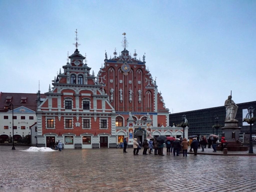 The House of the Blackheads is an example of some of the beautiful architecture in Riga.