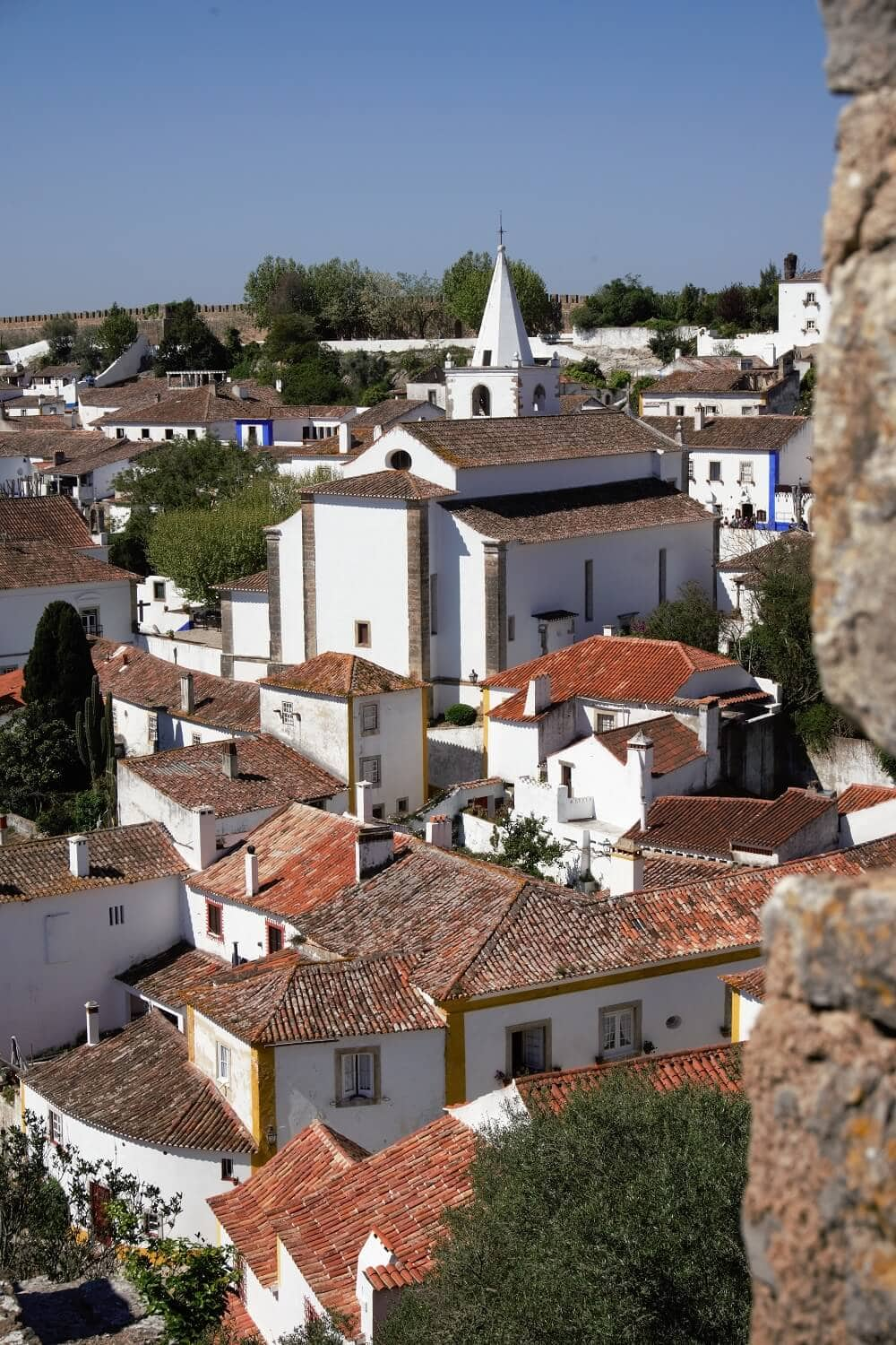 view of obidos from the city wall