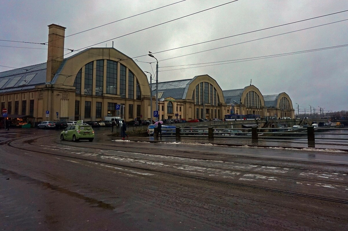 Riga Central Market from the outside. -