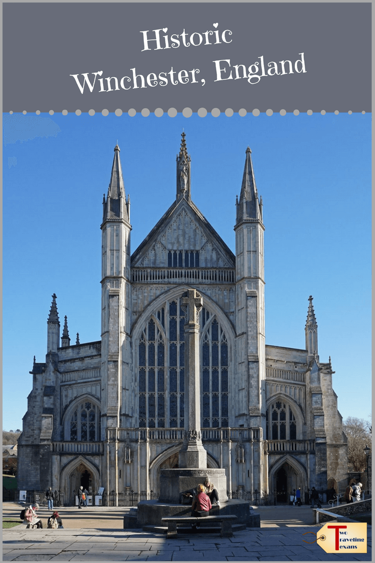 winchester cathedral with text overlay