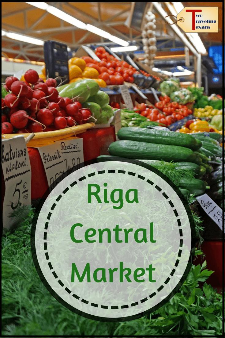 food at riga central market