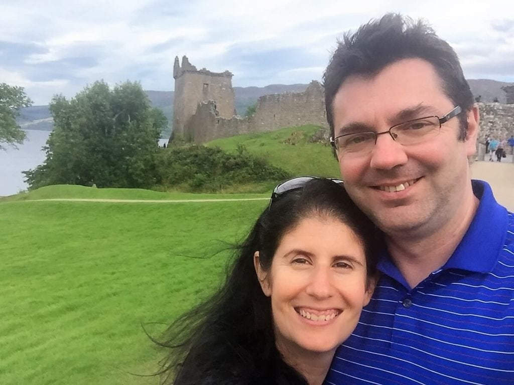 Obligatory Selfie! - Exploring Urquhart Castle on Loch Ness - Two Traveling Texans