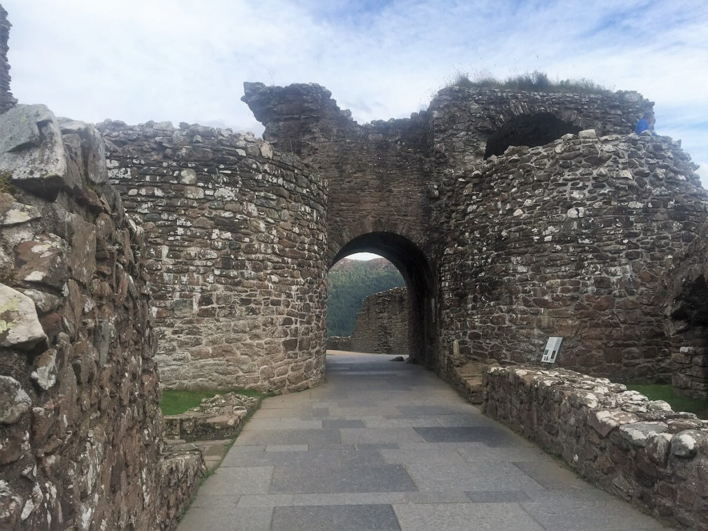 The main entrance to Castle Urquhart.