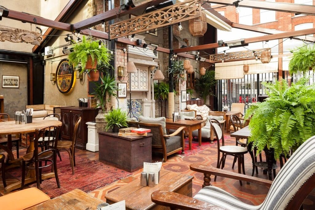 Photo of the Shoreditch Verandah provided by Dishoom - The Best Restaurants in Shoreditch - Two Traveling Texans