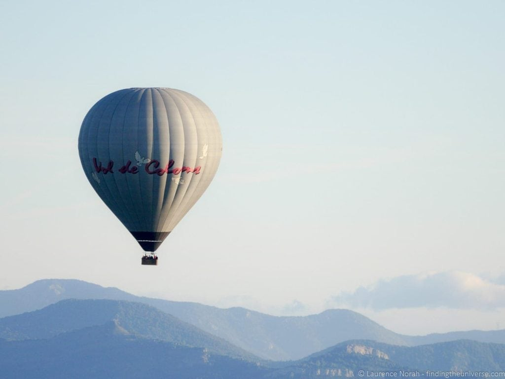 Wouldn't a hot air balloon ride over La Garroxta be amazing!
