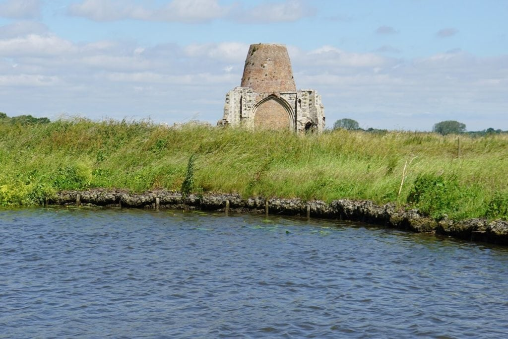"View of St. Benets Abbey from the Broads. - "" Hire a Boat on the Norfolk Broads"" - Two Traveling Texans"