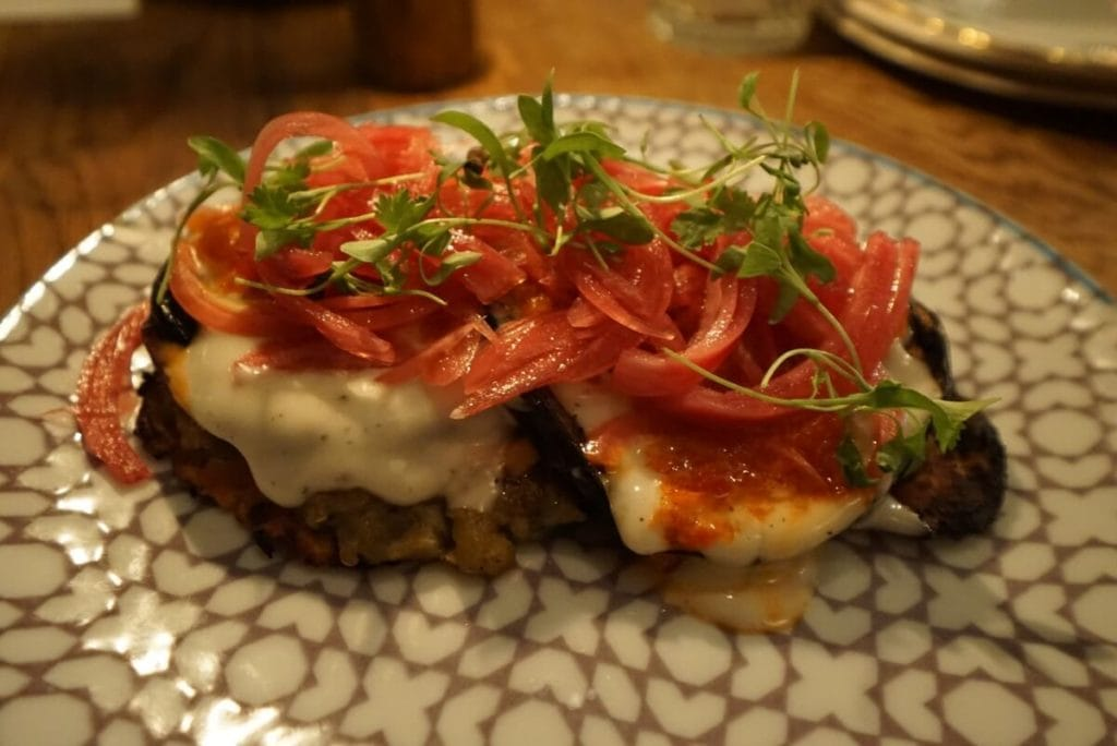 The eggplant dish at Hopscotch was my favorite. - The Best Restaurants in Shoreditch - Two Traveling Texans