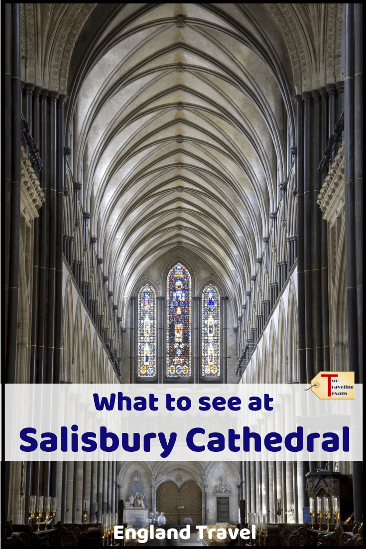 inside salisbury cathedral with text overlay