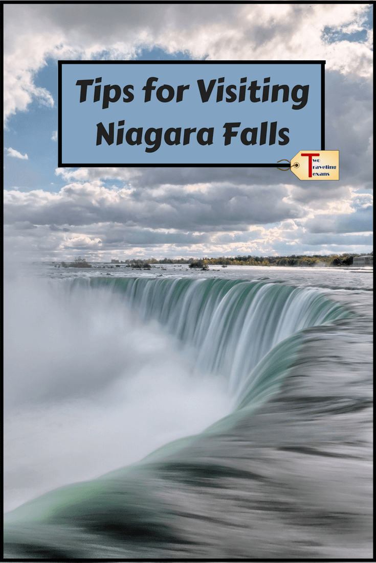 horseshoe falls on the canadian side of niagara falls with text overlay