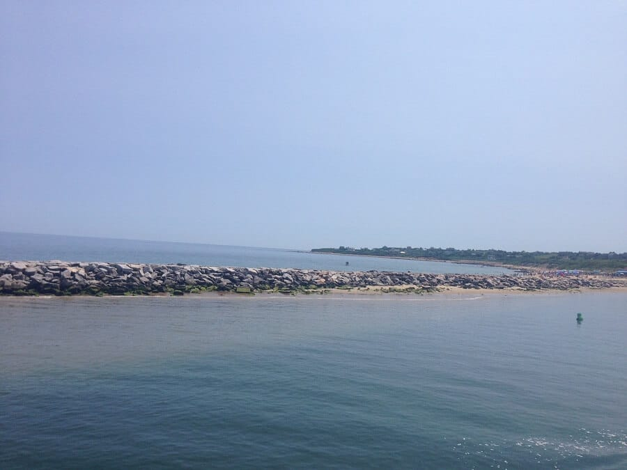 "The view from the ferry as we approached Block Island- ""Block Island Ferry and Travel Guide"" - Two Traveling Texans"