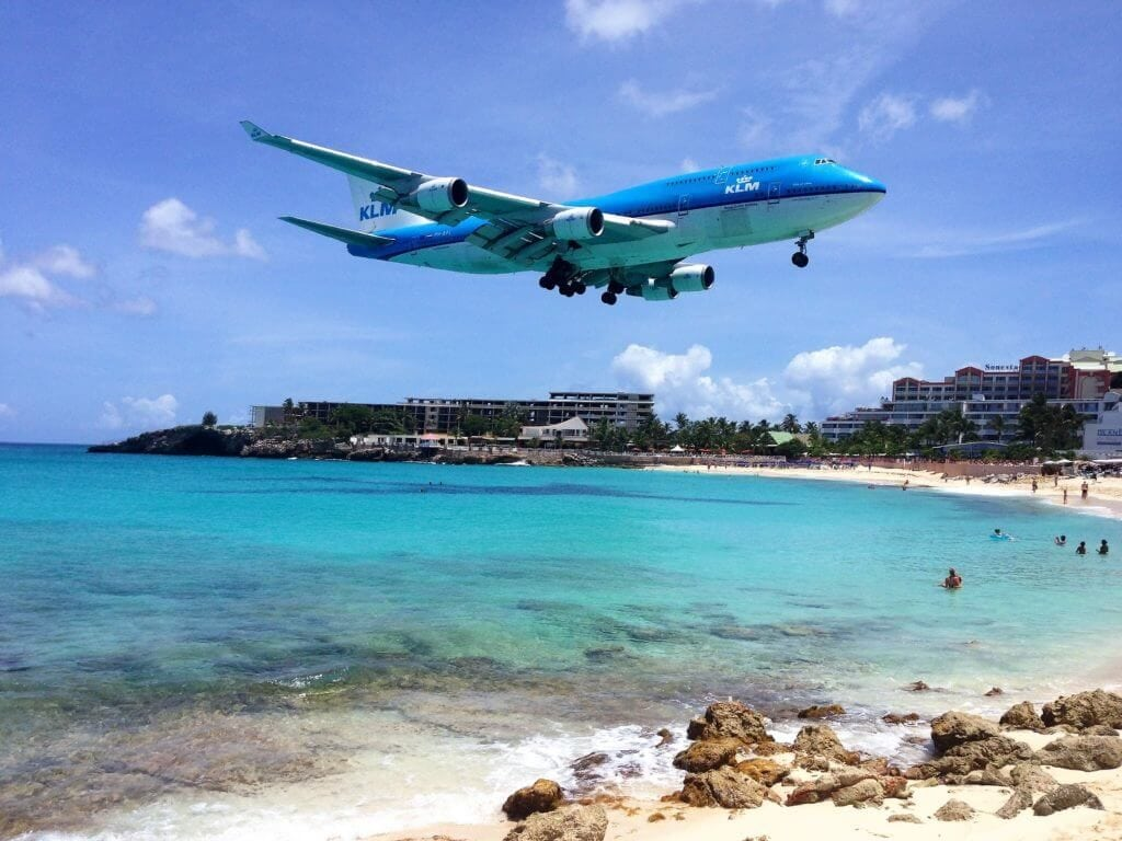 "Get up close and personal with airplanes! - ""Maho Bay: Plane Spotting in St. Maarten"" - Two Traveling Texans"