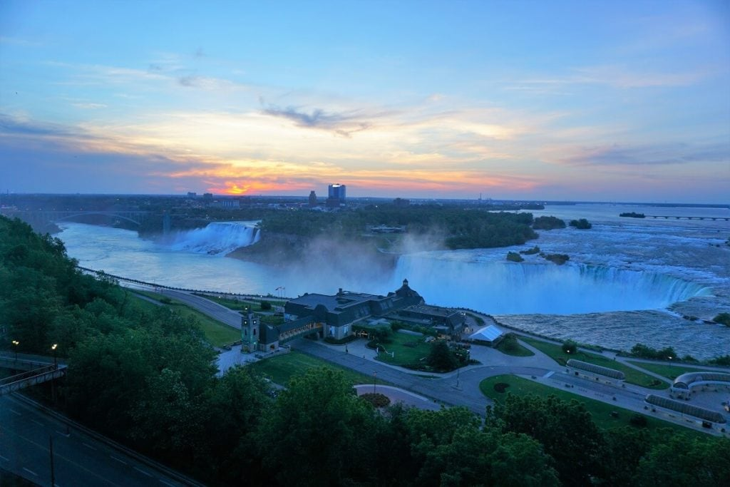 "Niagara Falls sunrise - ""Tips for Visiting Niagara Falls"" - Two Traveling Texans"