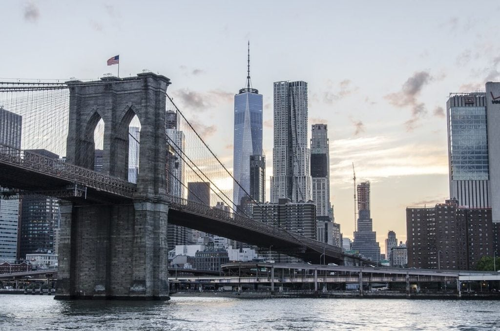 "Walk across the East River on the Brooklyn Bridge if the weather is nice. - ""Tips for Visiting New York City For the First Time"" - Two Traveling Texans"
