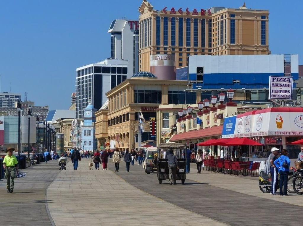 The famous Atlantic City Boardwalk is a must-see during your visit. - Two Traveling Texans