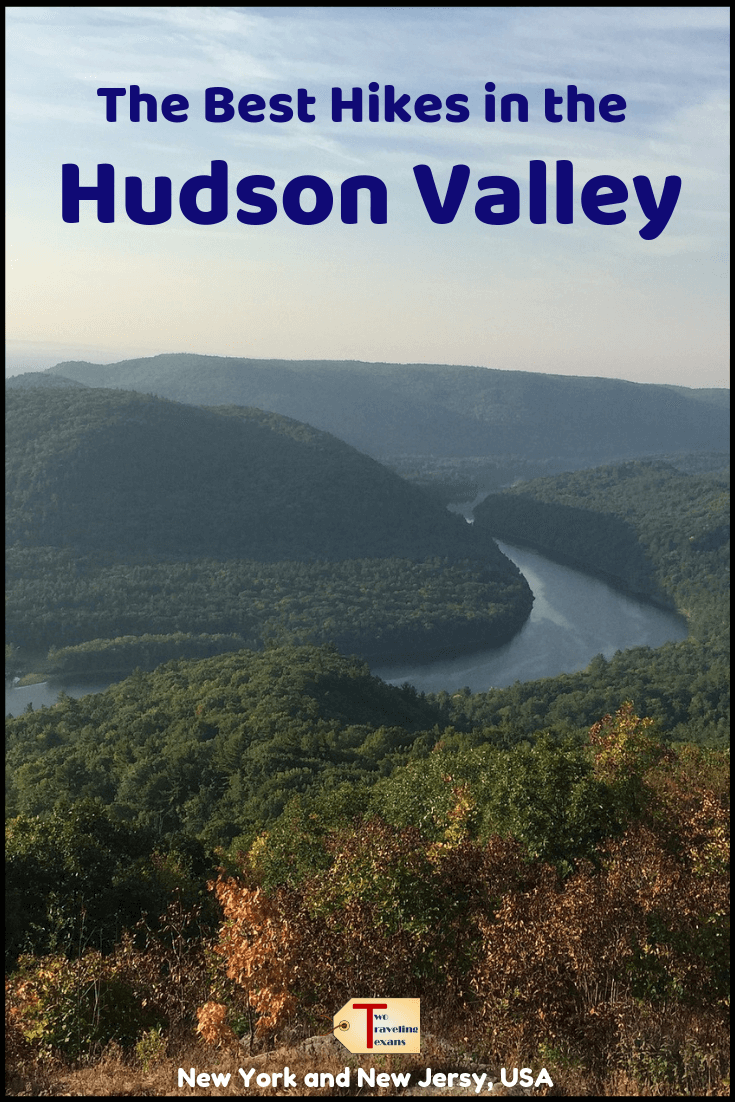 "view over the hudson valley with text overlay ""the best hikes in the Hudson Valley"""