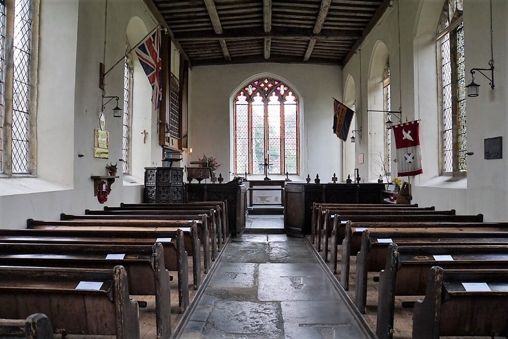 A glimpse inside St. Andrew's Church. - Walberswick - Two Traveling Texans