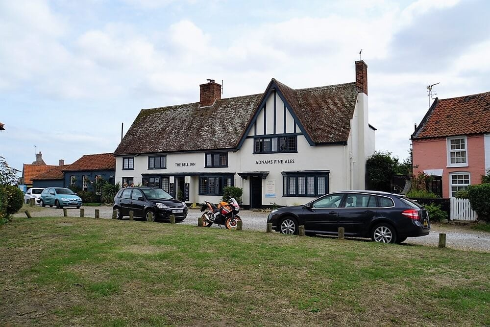 Russell's favorite pub in Walberswick is the Bell Inn. - Pubs in Walberswick - Two Traveling Texans