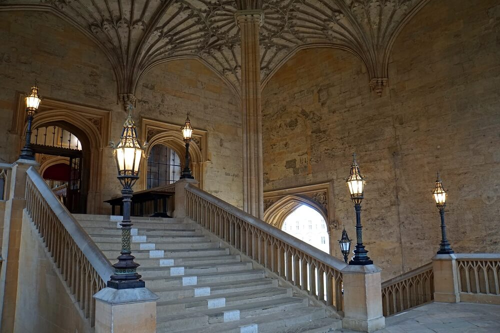 Staircase leading to the Hall - Christ Church College - Two Traveling Texans