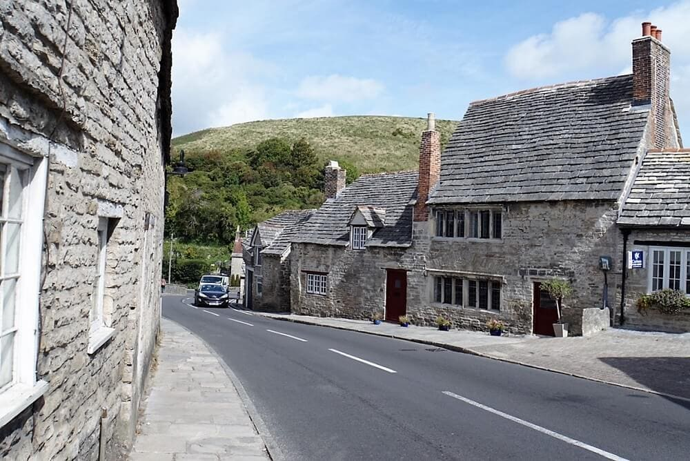 street in Corfe Castle - Sea Train Adventure - Two Traveling Texans