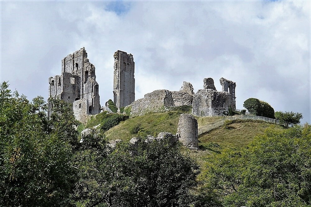 ruins of Corfe Castle - Sea Train Adventure - Two Traveling Texans